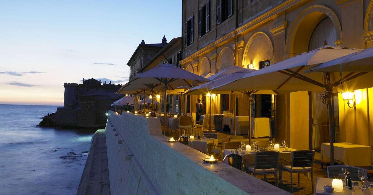 Fine Dining Restaurant Sea View Near Rome La Posta Vecchia